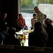 Presentation du repas lors de la formation Vidange