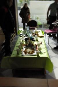 Table et repas lors d'un des evenements CAR